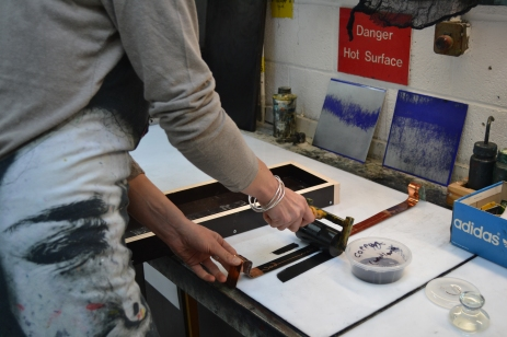 contemporary print permanent print refractory concrete print symposium uclan Magda Stawarska